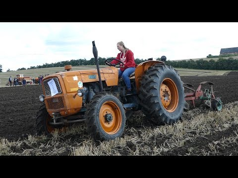 Fiat 615 DT 4WD Ploughing w/ 3-Furrow Kverneland Plough | Fiat Days 2017 | Danish Agriculture