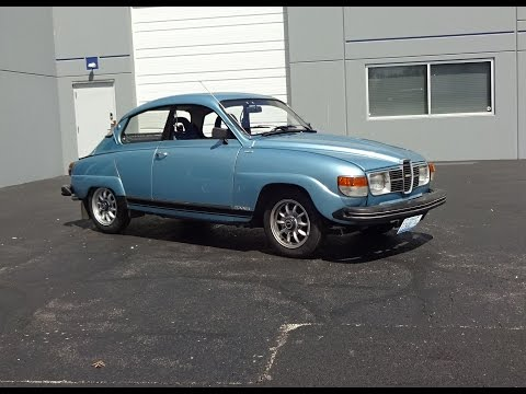 1980 Saab 96 GL Jubileum in Aquamarine Blue & V4 Engine Sound on My Car Story with Lou Costabile