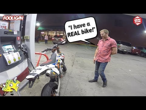 Drunk Dude Hates on my KTM Supermoto