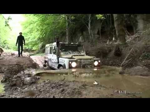 LAND ROVERS  IN  EXTREME MUD TRACKS