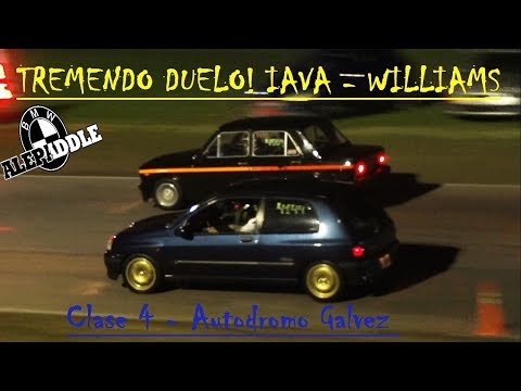 Clio Williams vs Fiat 128 Iava - TREMENDO DUELO !!!