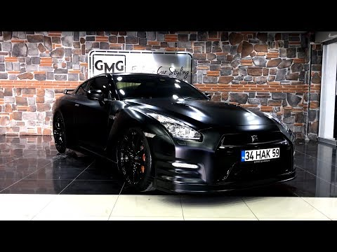 Nissan GTR Mat Satin Siyah VS. BMW i8 Mat Satin Flex Deep Red Chrome - GMG GARAGE