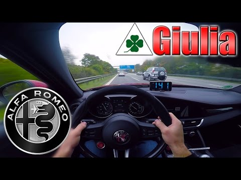 2017 Alfa Romeo Giulia Quadrifoglio (510hp) The REAL German Autobahn with NO SPEED LIMIT✔