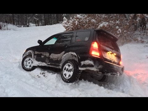 Subaru Forester Off Roading - Snow Hooning January 2015