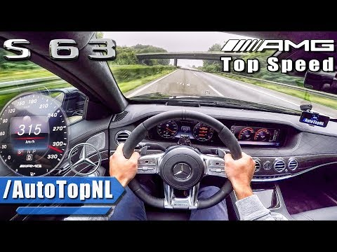 Mercedes S63 AMG 2018 ACCELERATION & TOP SPEED AUTOBAHN POV by AutoTopNL