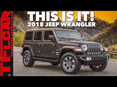 The 2018 Jeep Wrangler JL Breaks Cover and Here Are The Details!