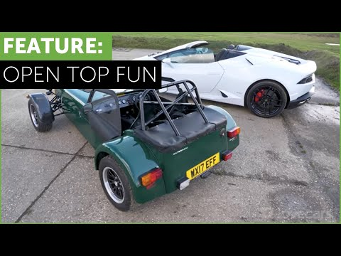 Lamborghini Huracan vs Caterham 310R. Bang for buck test w/ Tiff Needell