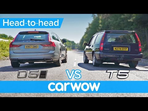 New diesel vs old petrol DRAG and ROLLING RACE: Volvo V90 D5 2017 vs 850 T5 1995 -which is quicker?