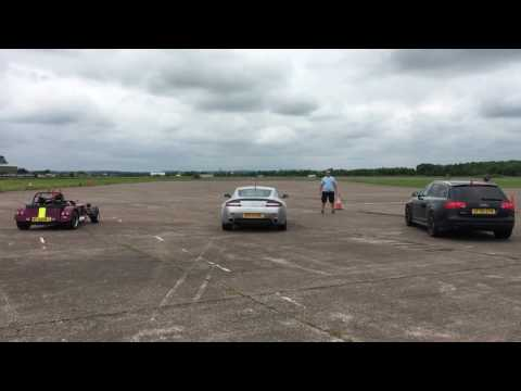 Caterham 620R vs Aston Martin vs Audi rs6