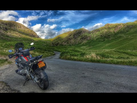Tour of the North by BMW R1200GS - Ep 2 Hardknott Pass to Ullswater