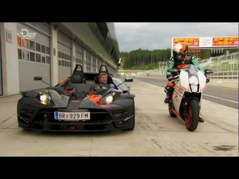 Fifth Gear ktm crossbow RR vs ktm RC8R.  IPCAMERA GIVEWAY See channel description