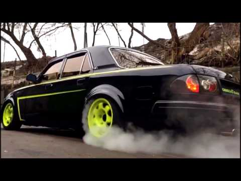 BURNOUT VOLGA - GAZ 31105 - engine ZMZ 406 TURBO - 400HP