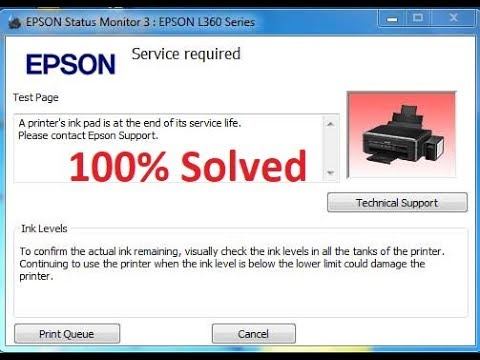 how to fix red light blinking error in epson L380 L220 L360