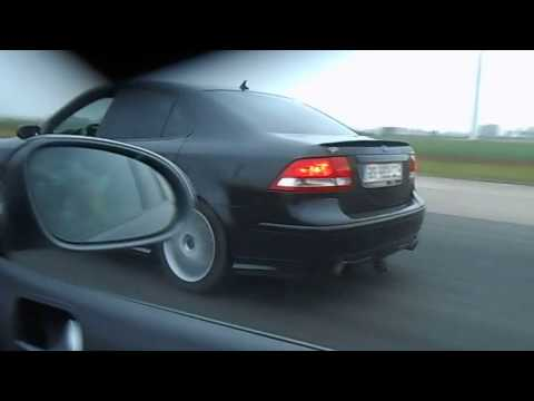 VW Golf 5 R32 vs 280 HP Saab 9-3 Aero