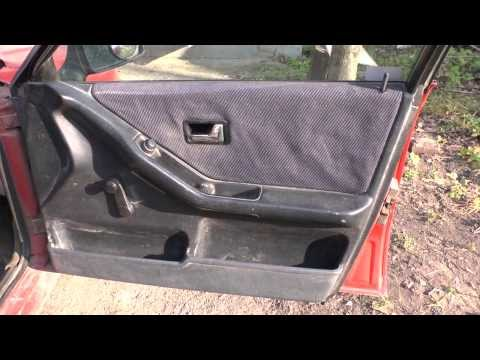 Замена карты двери Ауди 80 / Changeover of an upholstery of a door Audi 80