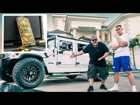 THE TRUTH ABOUT JAKE PAUL BUYING ME A HUMMER H 1 (24K GOLD IPHONE)