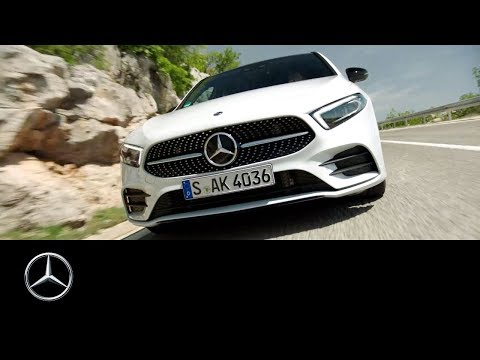 Mercedes-Benz A-Class 2018: From a drone's eye view