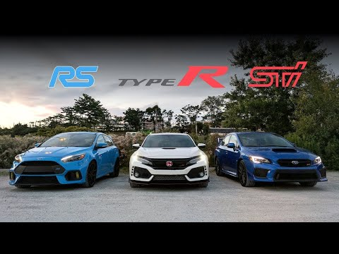 2018 Subaru STi vs Civic Type R vs Focus RS Review - Battle of the Year