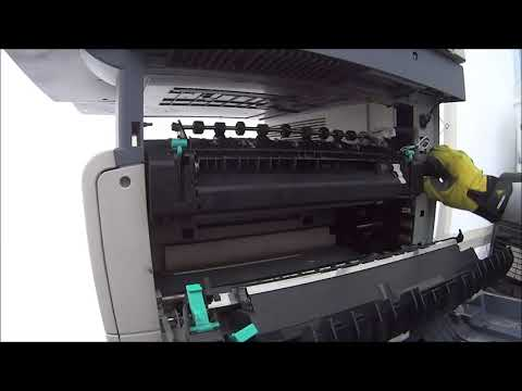 RICOH MP3010 MP2510 Fuser Unit & Transfer Roller REPLACEMENT - Видео