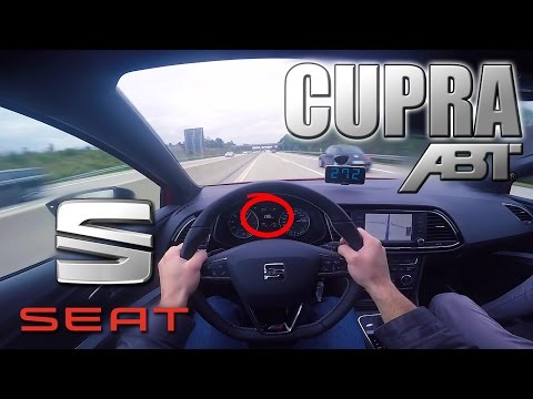 FAST !!! 2016 Seat Leon Cupra 350 (0-285 km/h) POV- Autobahn Acceleration, Top speed TEST ✔
