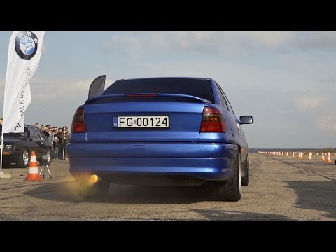 Opel Astra 3.2 V6 Turbo Extreme Anti Lag Sound & Acceleration