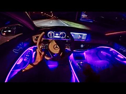 2018 Mercedes Benz S Class POV NIGHT DRIVE - AMBIENT LIGHTING - by AutoTopNL
