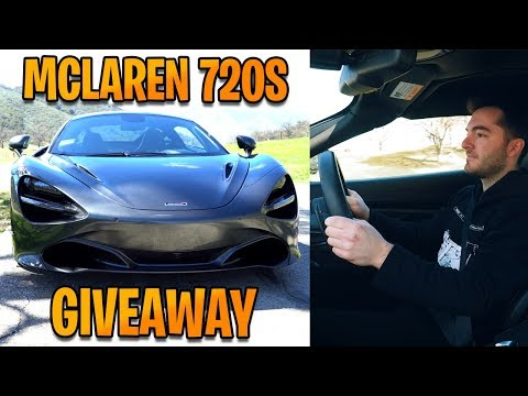 Giving Away A McLaren 720S