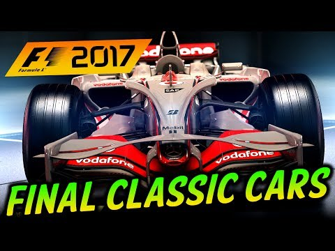 F1 2017 Game: LAST CLASSIC CARS REVEALED! McLaren Icons
