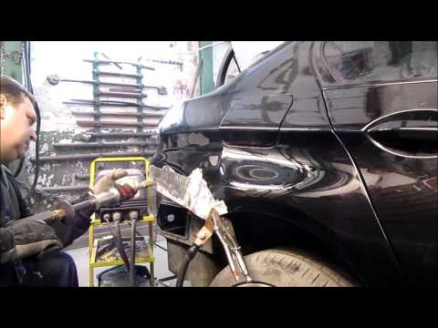 BMW 5. Rear part repair. Ремонт задней части .