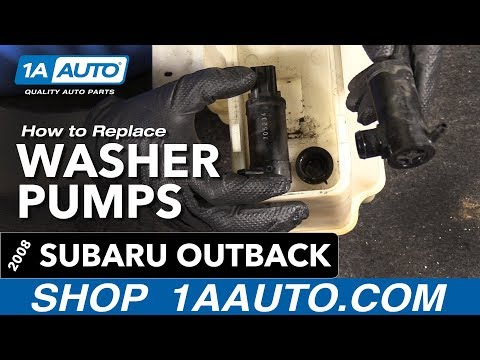 How to Replace Install Washer Pumps 2008 Subaru Outback