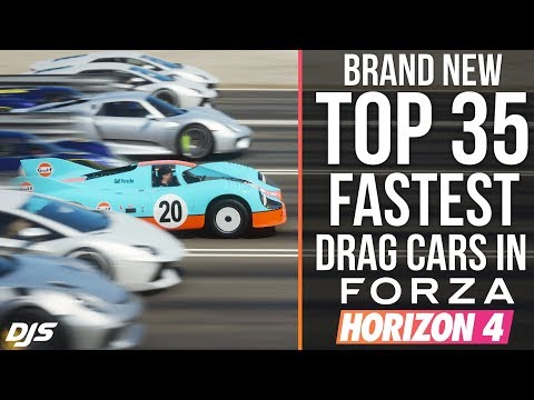 NEW TOP 35 FASTEST DRAG CARS!! Forza Horizon 4 - Is the Mclaren F1 GT still the fastest?