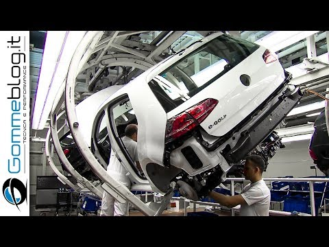 CAR FACTORY: VOLKSWAGEN Golf Production Line 2017 - HOW IT