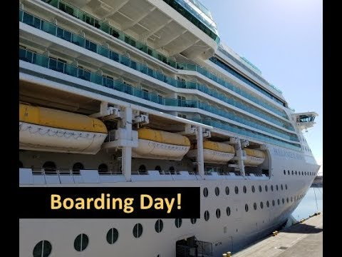 Boarding the Brilliance of the Seas Cruise Ship! 😀 A Royal Caribbean Vlog [ep1]