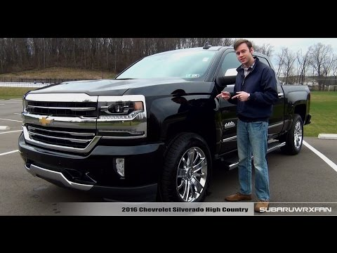 Review: 2016 Chevrolet Silverado High Country