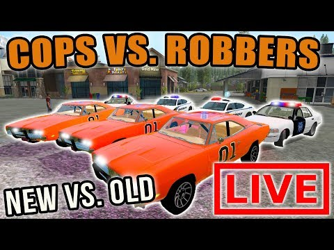 OLD SCHOOL VS. SCHOOL | DODGE CARS | COPS VS. ROBBERS | FARMING SIMULATOR 2017