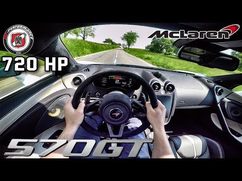 McLaren 570 GT 720 HP POV Test Drive PP Performance by AutoTopNL