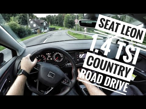 Seat Leon 1.4 TSI FR (2017) - POV Country Road and City Drive