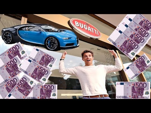 TRYING TO BUY A BUGATTI CHIRON IN CASH!