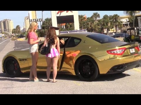 GOLD DIGGER Prank! Gold Maserati vs Honda (Exposed) Pt 1