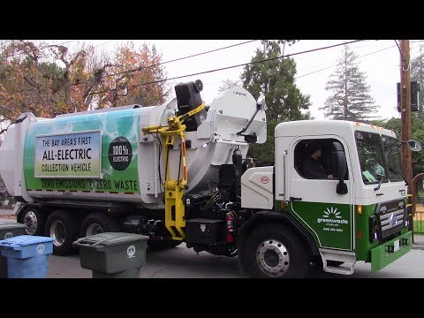 Bay Areas First Electric Garbage Truck - BYD Curbtender HammerPak
