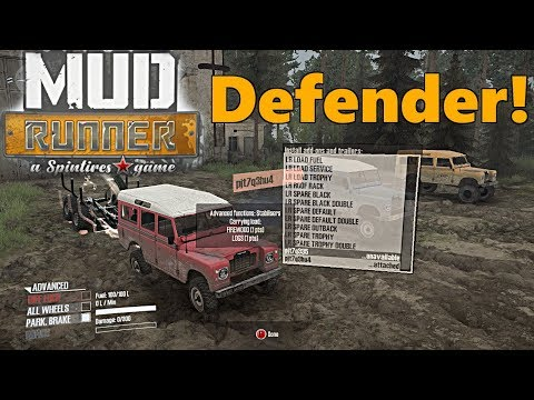 SpinTires Mud Runner: Land Rover Defender Series 3, Full Review and Test! BEST MOD YET!?