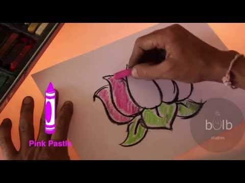 How To Draw A Lotus | Scribble For Kids