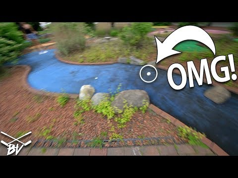 GETTING SERIOUS AIRTIME AT THIS MINI GOLF COURSE! | Brooks Holt