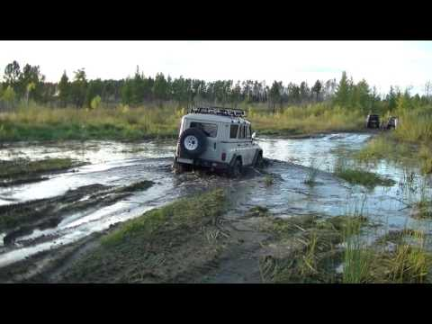 УАЗ vs Lexus LX470 vs Land Cruiser 200 vs Hummer H3 vs Hilux Surf. Танковая дорога. Жесть!!!