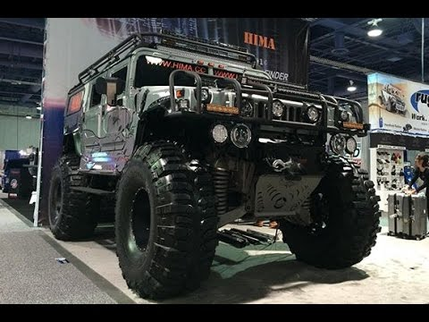 Crazy Lifted Military HUMMER :SEMA 2016