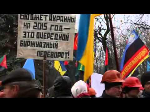 Ukrainian miners came out to protest in the city center 03 03 2015 Ukraine War,News Today!