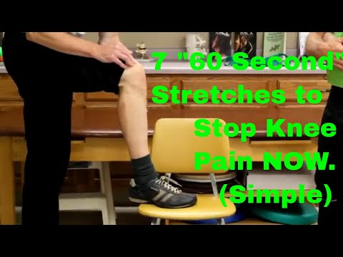 """7 """"60 Second"""" Stretches to Stop Knee Pain NOW (Simple to Do)"""