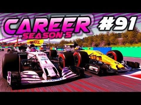 RENAULT CREEPING UP ON THE TITLE FIGHT?! - F1 2017 Career Mode Part 91