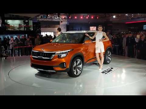 Kia SP Concept SUV in Hindi | Creta competition | Auto Expo 2018 | MotorOctane