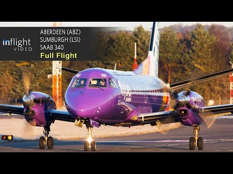 Loganair Full Flight | Aberdeen to Shetland-Sumburgh | Saab 340 (with Live Map)